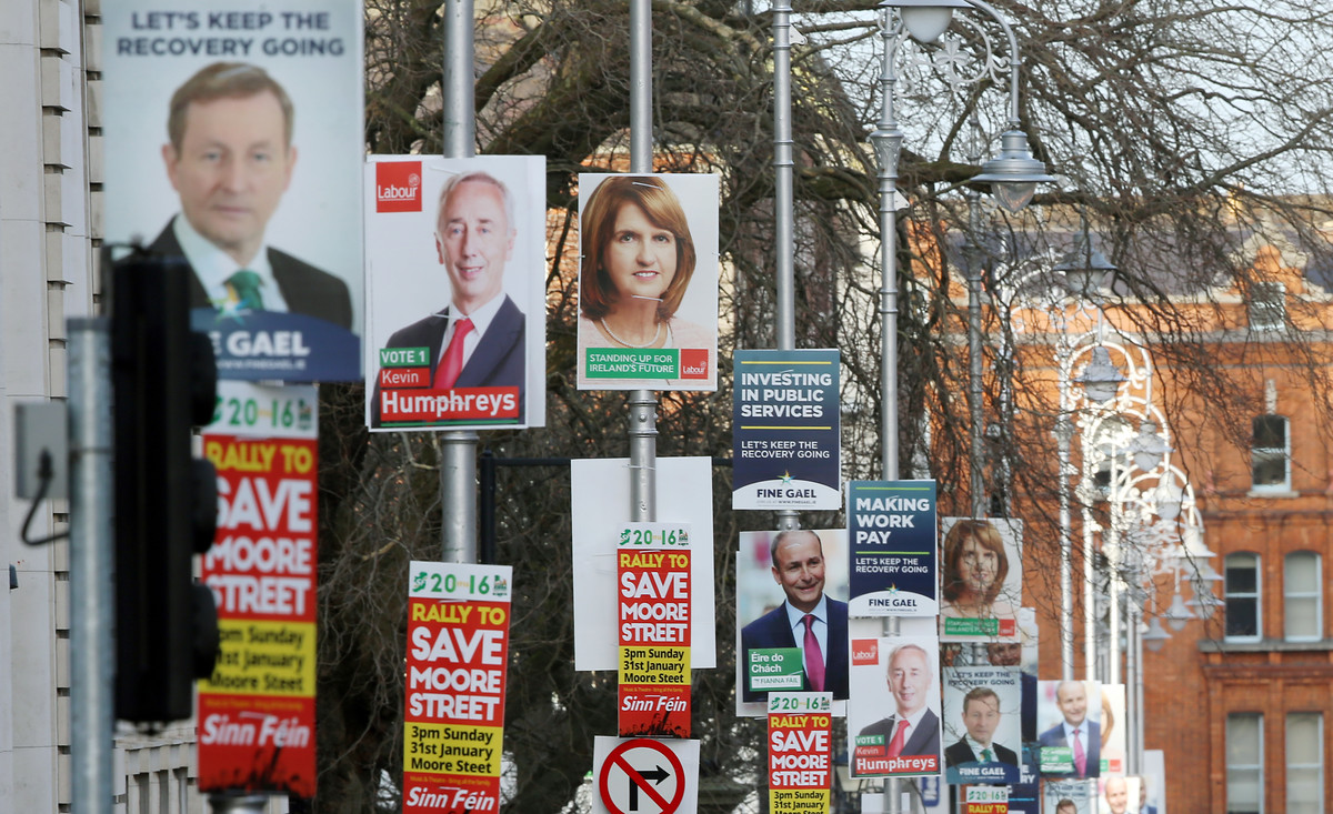 Wahlplakate in Dublin | Foto: picture alliance / empics