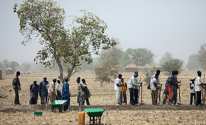 Bauern in Afrika | Foto: EU Humanitarian Aid und Civil Protection/Flickr