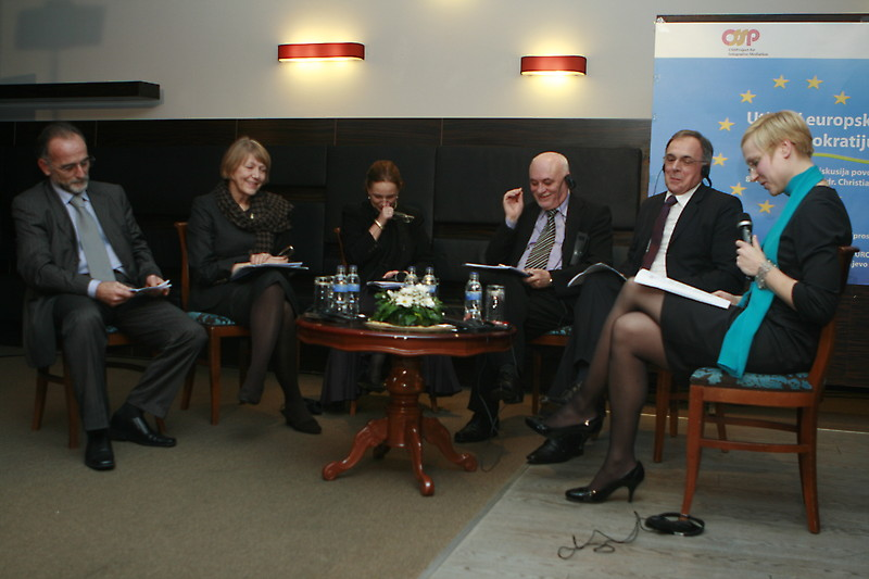"""The impact of EU integration on democracy and constitution"", Sarajevo, December, 9th 2010"