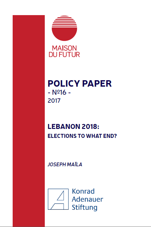 Cover for the policy paper number 16 with Maison du Futur, authored by Joseph Maila