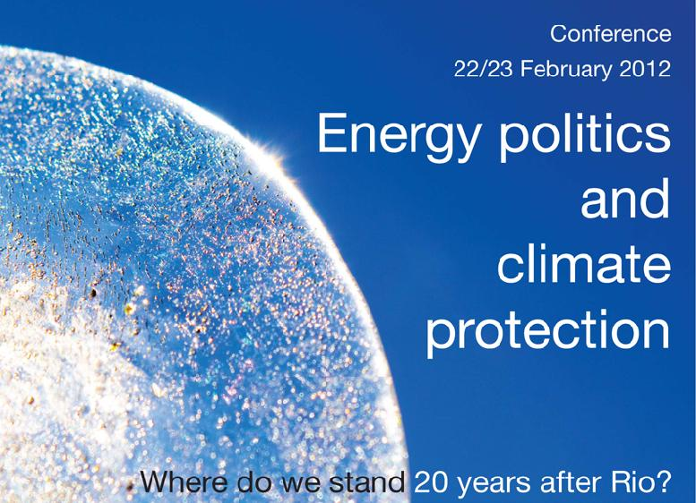 "Plakat Konferenz ""Energy politics and climate protection"", Riga"