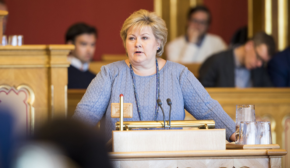 Erna Solberg, Ministerpräsidentin von Norwegen | © Norwegisches Parlament / Flickr  / CC BY-NC-2.0