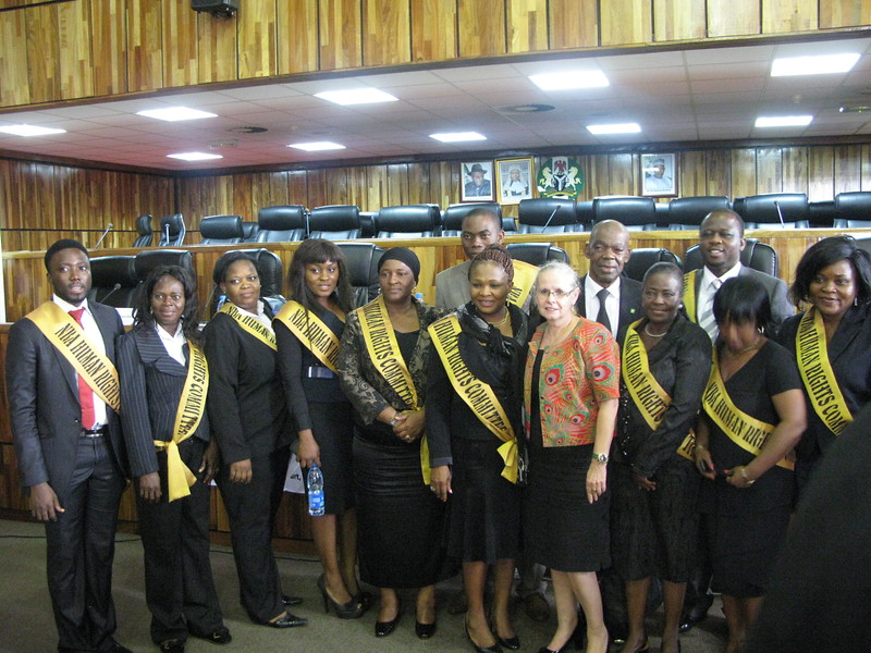 Members of the NBA Human Rights Committee and Mrs. Behrendt-Kigozi