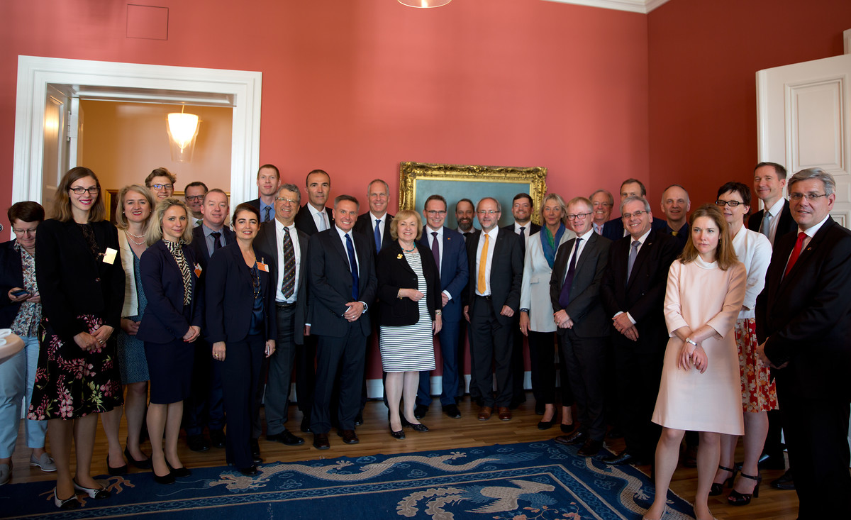 Germany-Australia Expert Dialogue on Political and Economic Challenges, Berlin 19.5 2017 with MP Volkmar Klein and delegation of Australian business leaders