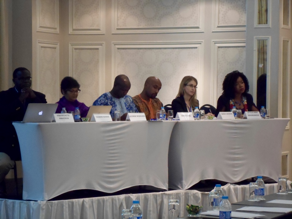 Podiumsdiskussionen mit internationalen Experten der Rechtswissenschaft auf der Jährlichen Juristenkonferenz von ICJ (International Commission of Jurists) in Durban, Südafrika November 2016