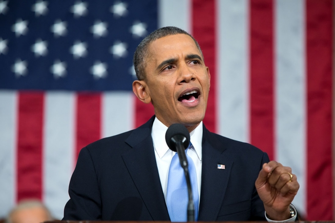 "US President Obama bei der ""State of the Union Address"" am 17. Januar."