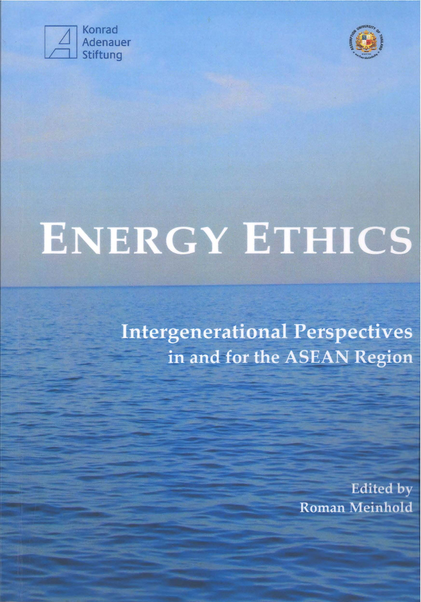Cover: Energy Ethics: Intergenerational Perspectives in and for the ASEAN Region