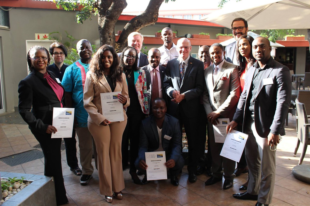 Teilnehmer der E-lection Bridge Academy 2015, Windhoek