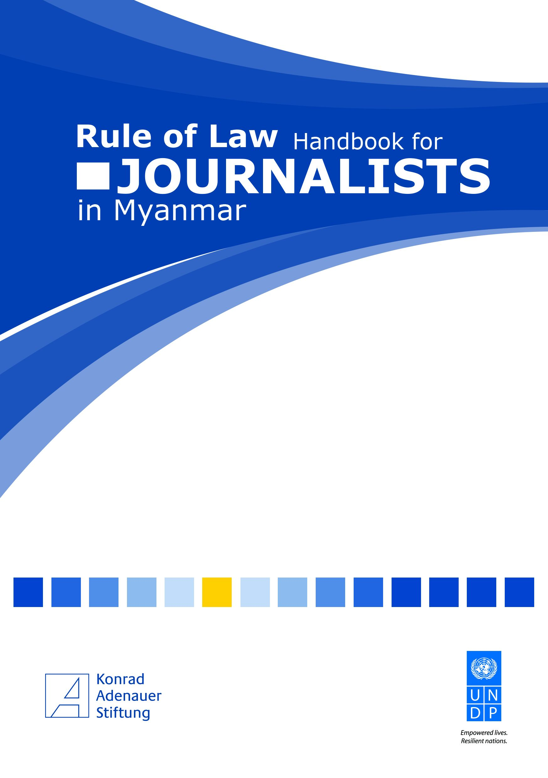Cover: Rule of Law Handbook for Journalists in Myanmar