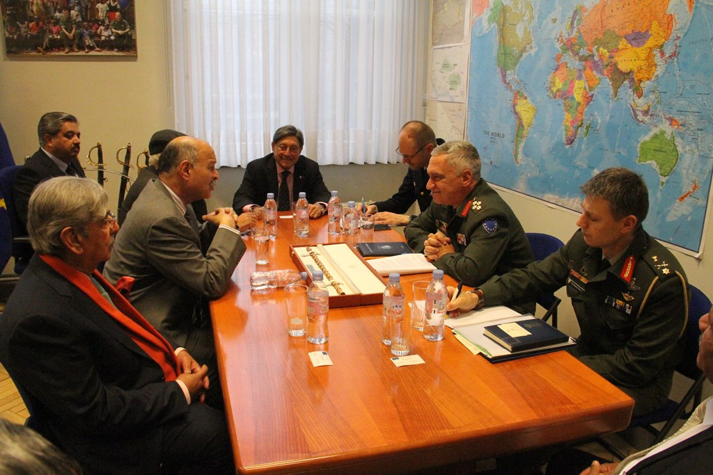 Meeting Senators DefCOM and General Kostarakos