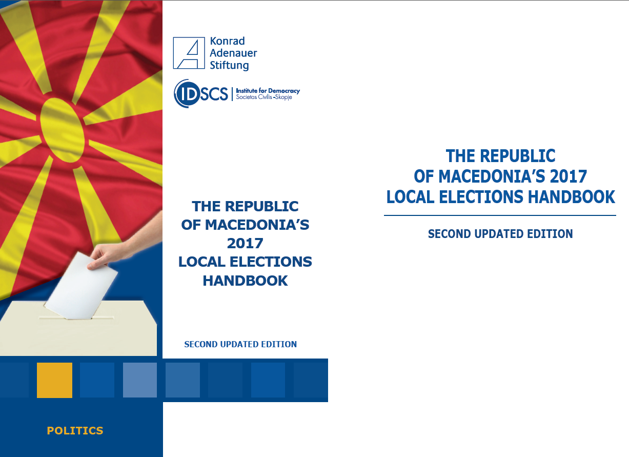 Cover: The Republic of Macedonia's 2017 Local Elections Handbook