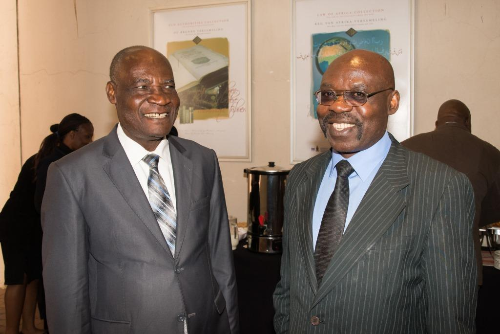 (L-R) Hon. Judge Njilele and Prof. Fombad