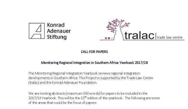 KAS tralac Call for papers