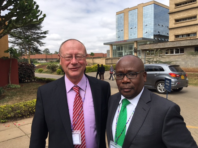 From the left, The Director of the Rule of Law Program Dr. Arne Wulff with the Attorney General of Kenya Githu Muigai during the conference.