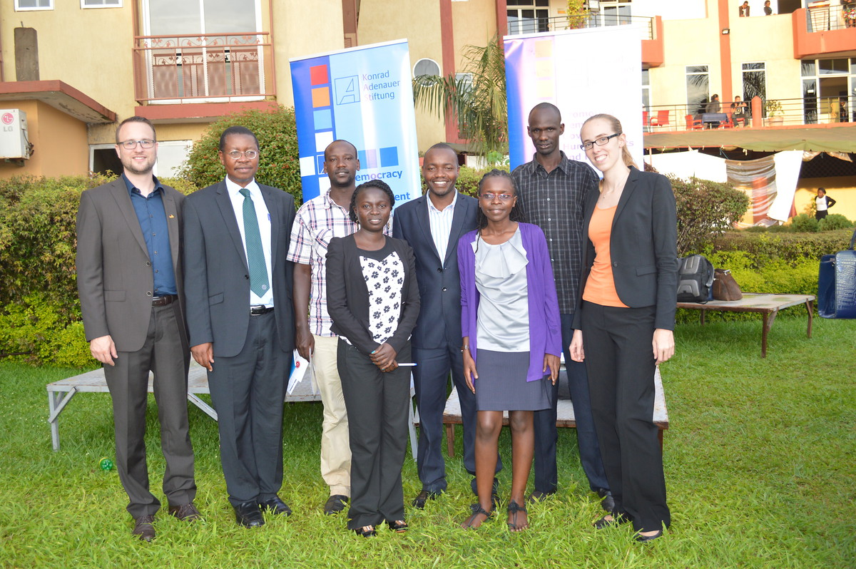 Five young Ugandans were awarded a scholarship in 2015.