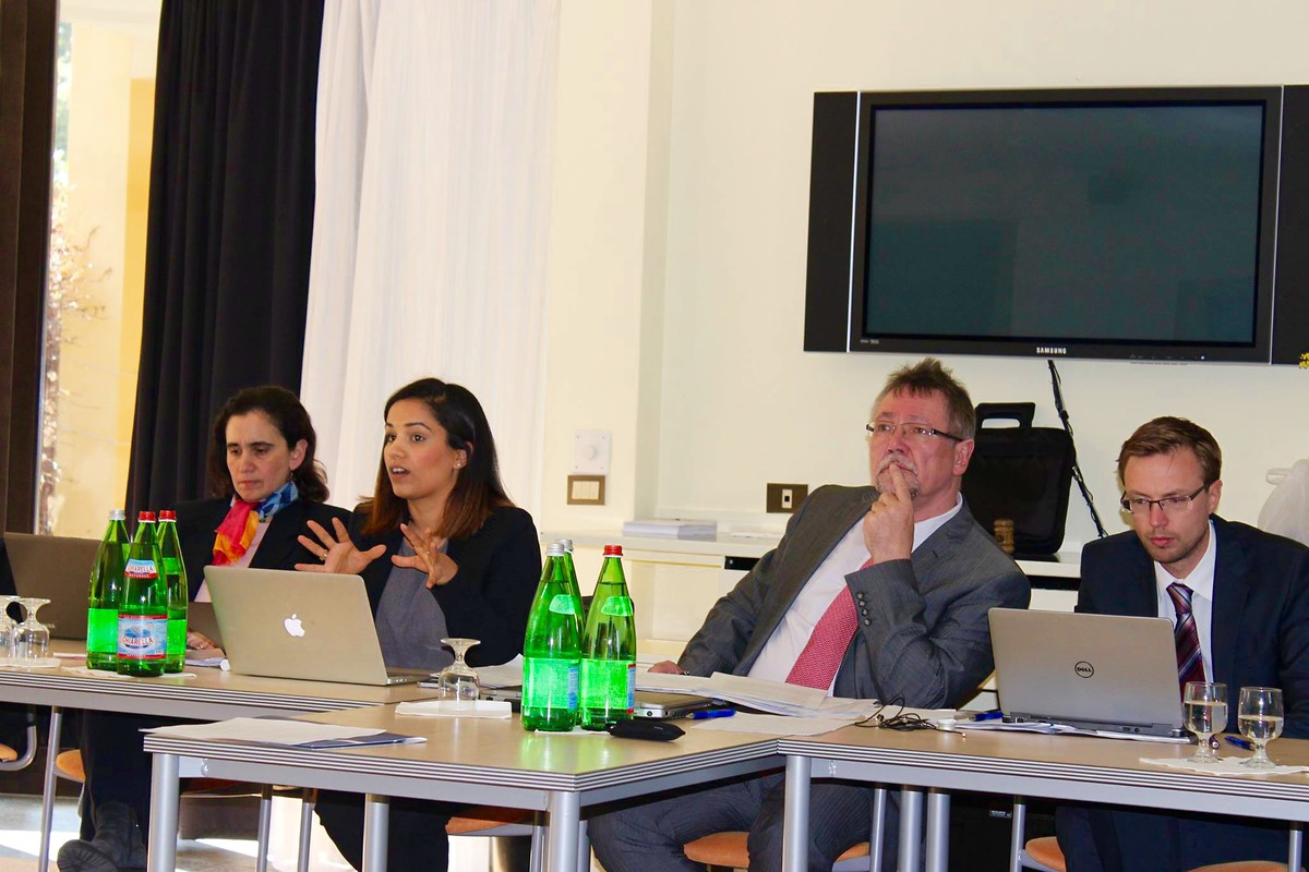 Panel Discussion (left to right: Katerina Dalacoura, Adrieh Abou Shehadeh, Peter Rimmele, Hans Maria Heyn)
