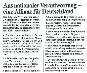 Quelle: Union in Deutschland. Informationsdienst der CDU, Nr. 5/90
