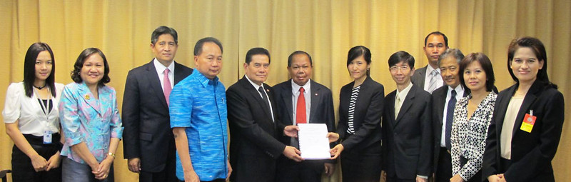"On 14th March 2013, Thammasat Law Research and Consultancy, Konrad Adenauer Stiftung (KAS), Cross Cultural Foundation (CrCF) and Muslim Attorney Center (MAC) jointly submitted the policy option on ""Justice Fund"" to the government at the Ministry of Justice and the leader of the opposition party at Democrat party."