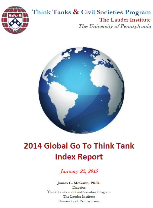 2014 Global Think Tank Ranking Lauder Institute