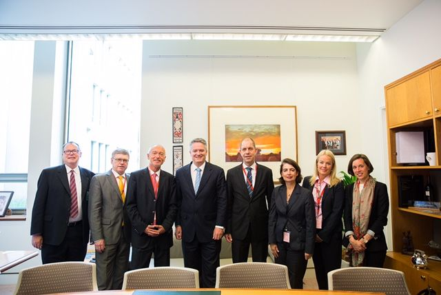 Concluding the political talks in Canberra the delegation met again with Matthias Cormann, Australian Minister for Finance and Australia-Germany Advisory Group Co Chair