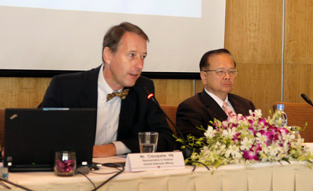 Mr Clauspeter Hill as the keynote speaker on OCC Seminar on 7 June 2012.