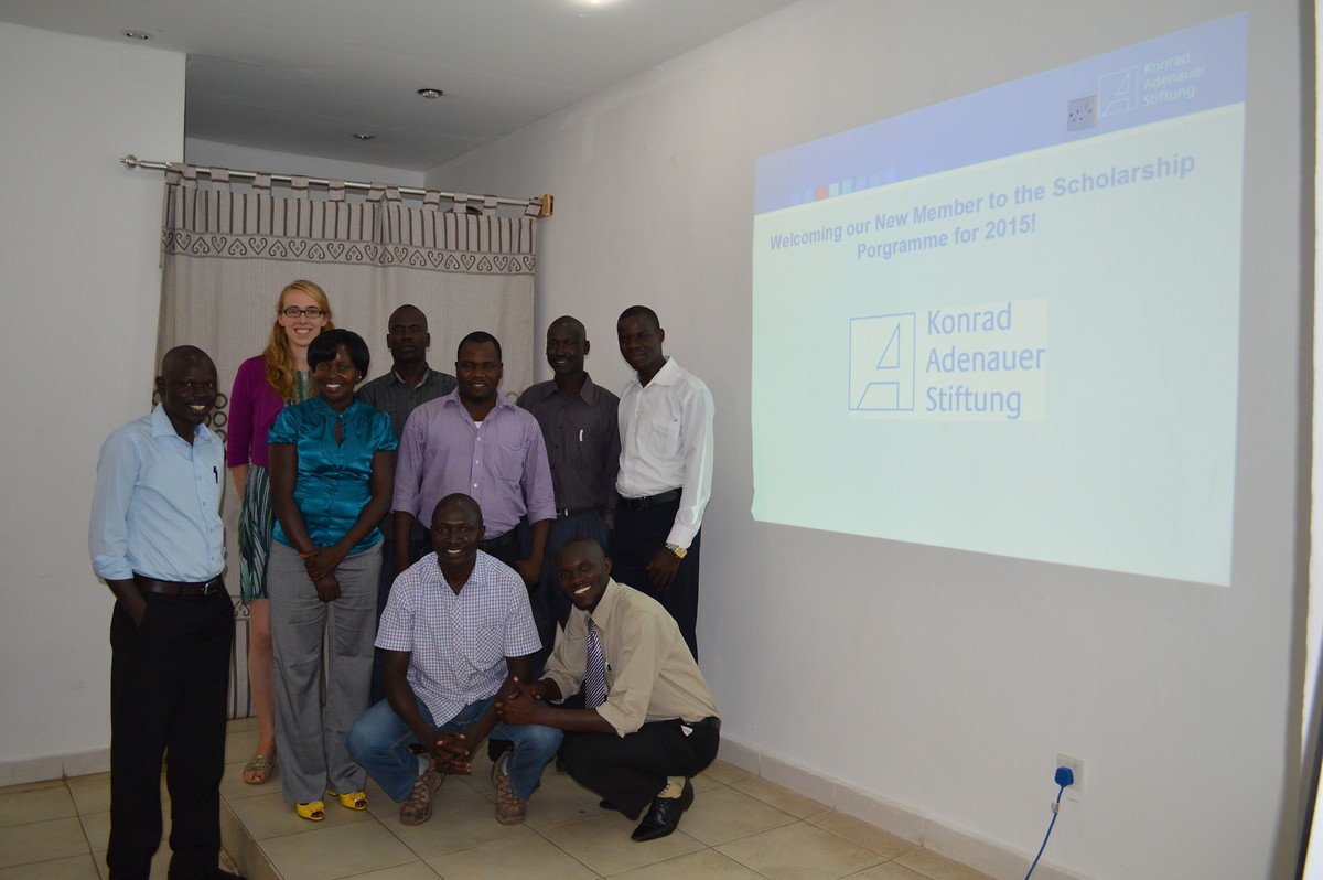 Group Picture of the South Sudanese KAS-UMU scholarship holders