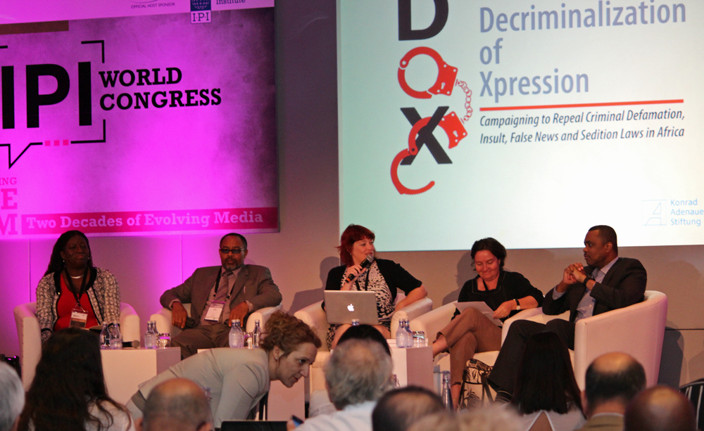IPI World Congress 2014 - Decriminalization of Expression Panel