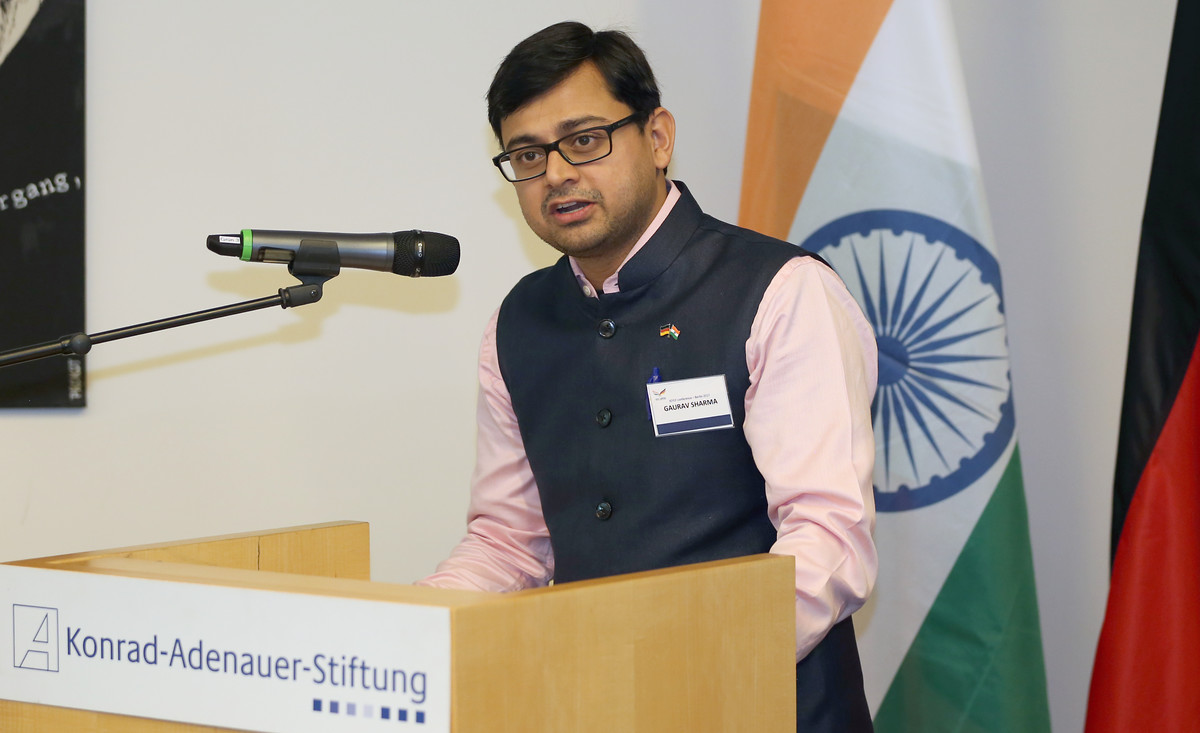 Gaurav Sharma, Ko-Vorsitzender des Indo-German Young Leaders Forum