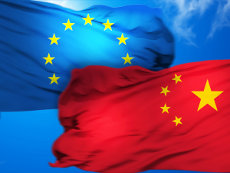 Flaggen EU China