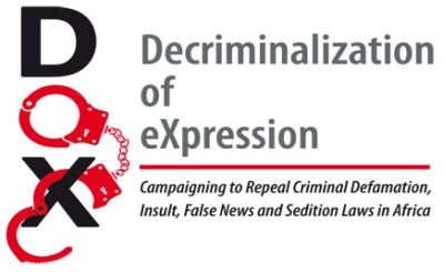 Logo der Decriminalization of Expression Kampagne