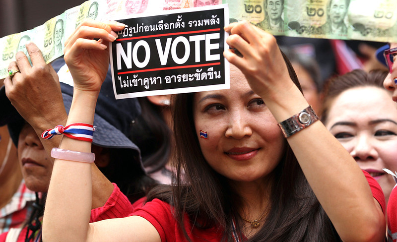 Demonstranten in Bangkok