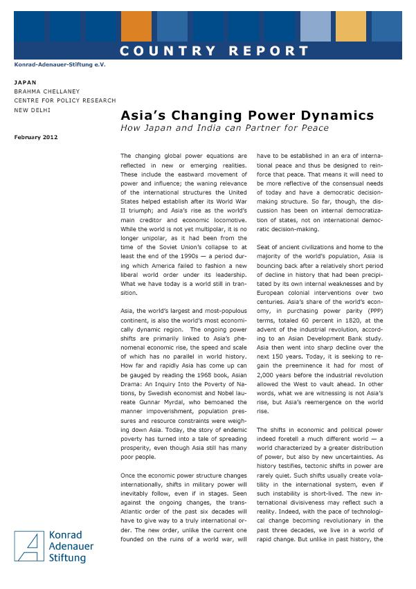 Cover: Asia's Changing Power Dynamics