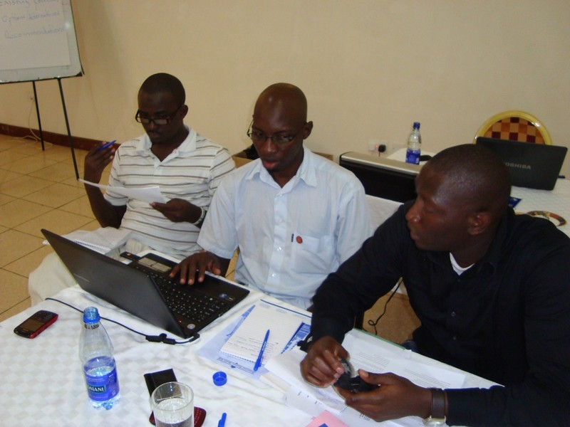 Think Tank members during a group work session on the topic health