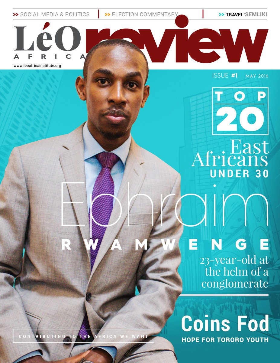 Cover: LéO Africa Review Magazine, Erste Edition, Juni 2016