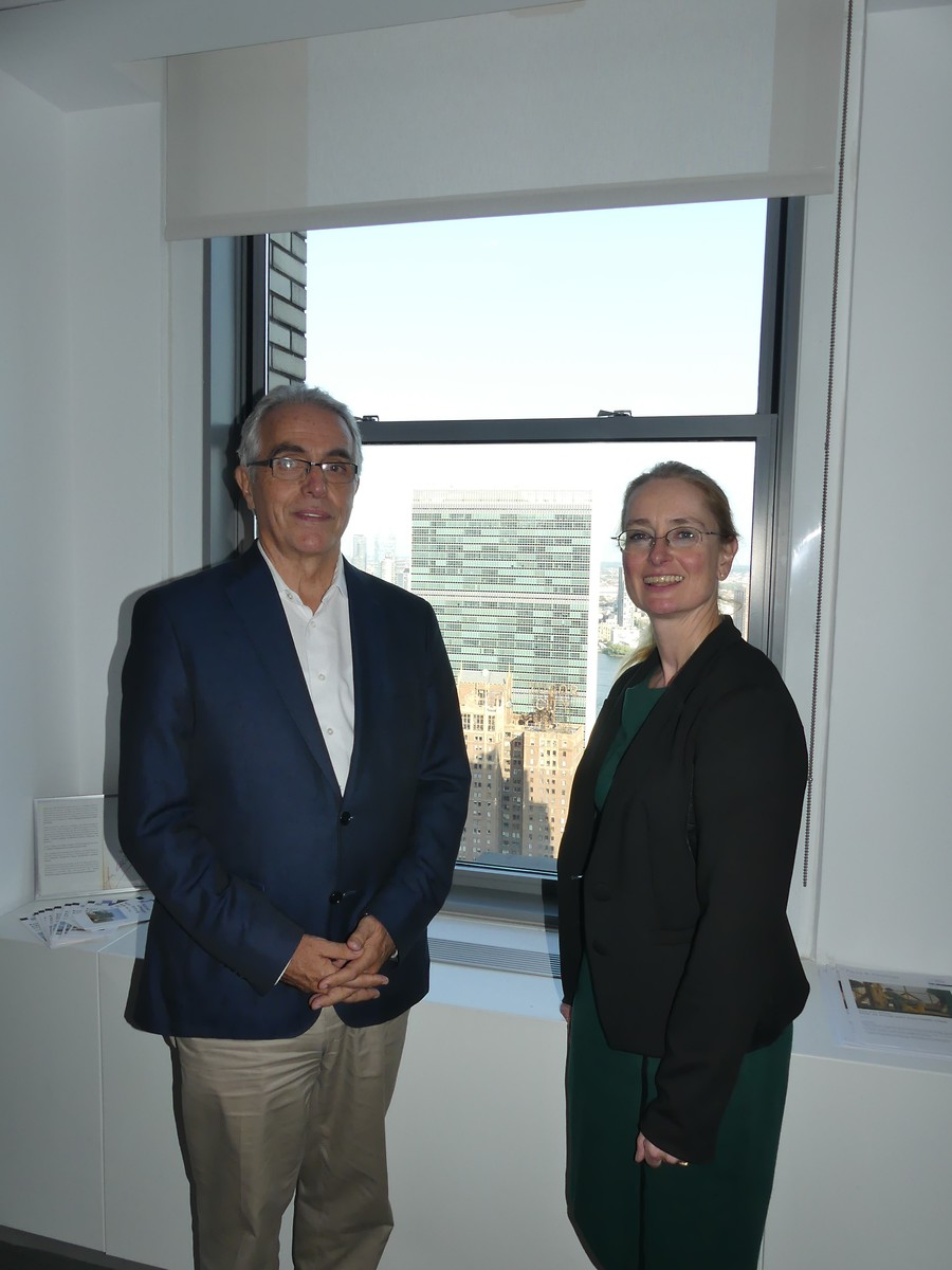 UN Special Rapporteur Diego Garcia-Sayan with Ms. Ostheimer, Director KAS NY Office