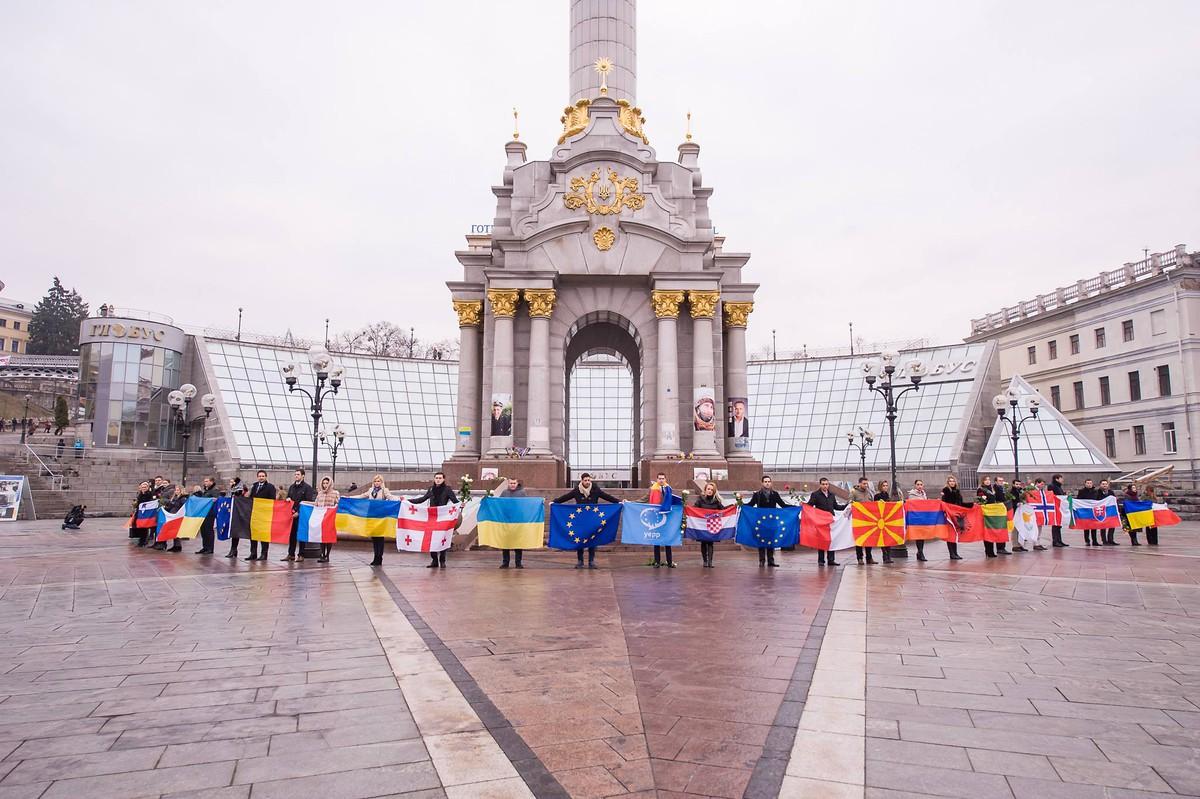 Commemorating Euromaidan's 2nd anniversary.