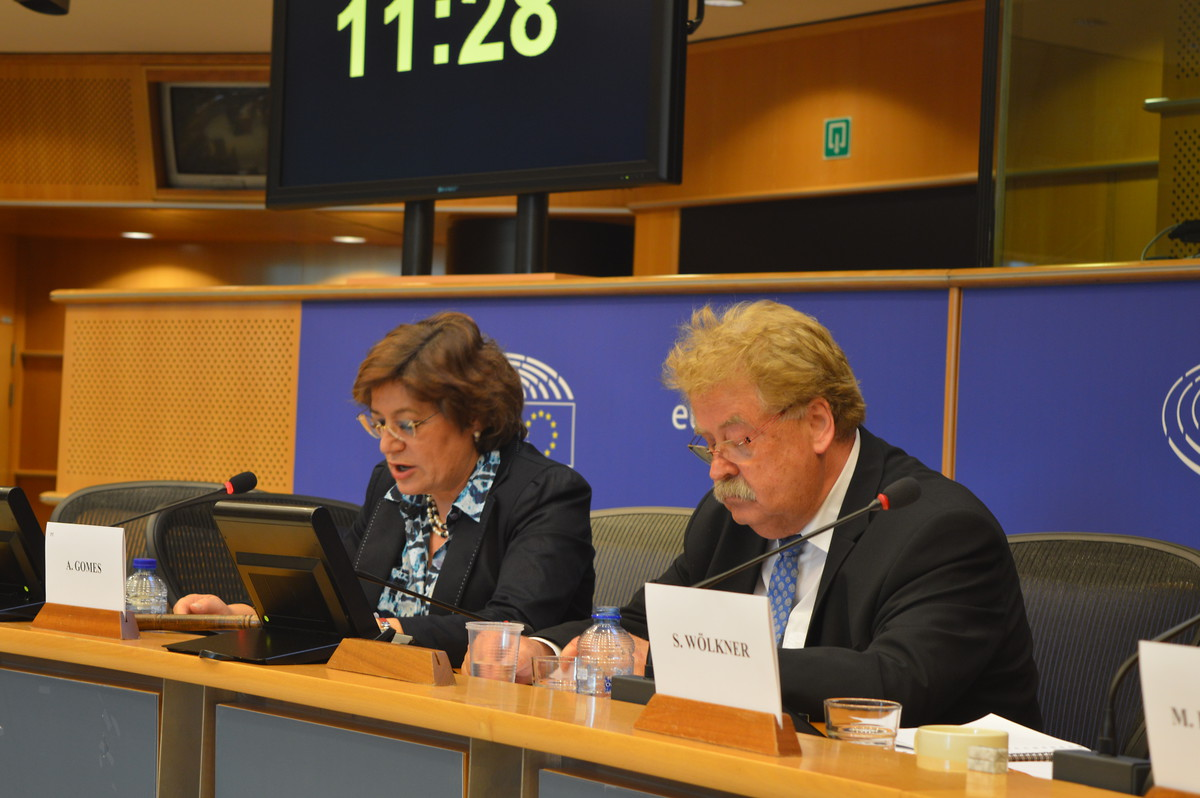 Ana Fomes and Elmar Brok present their recommendations