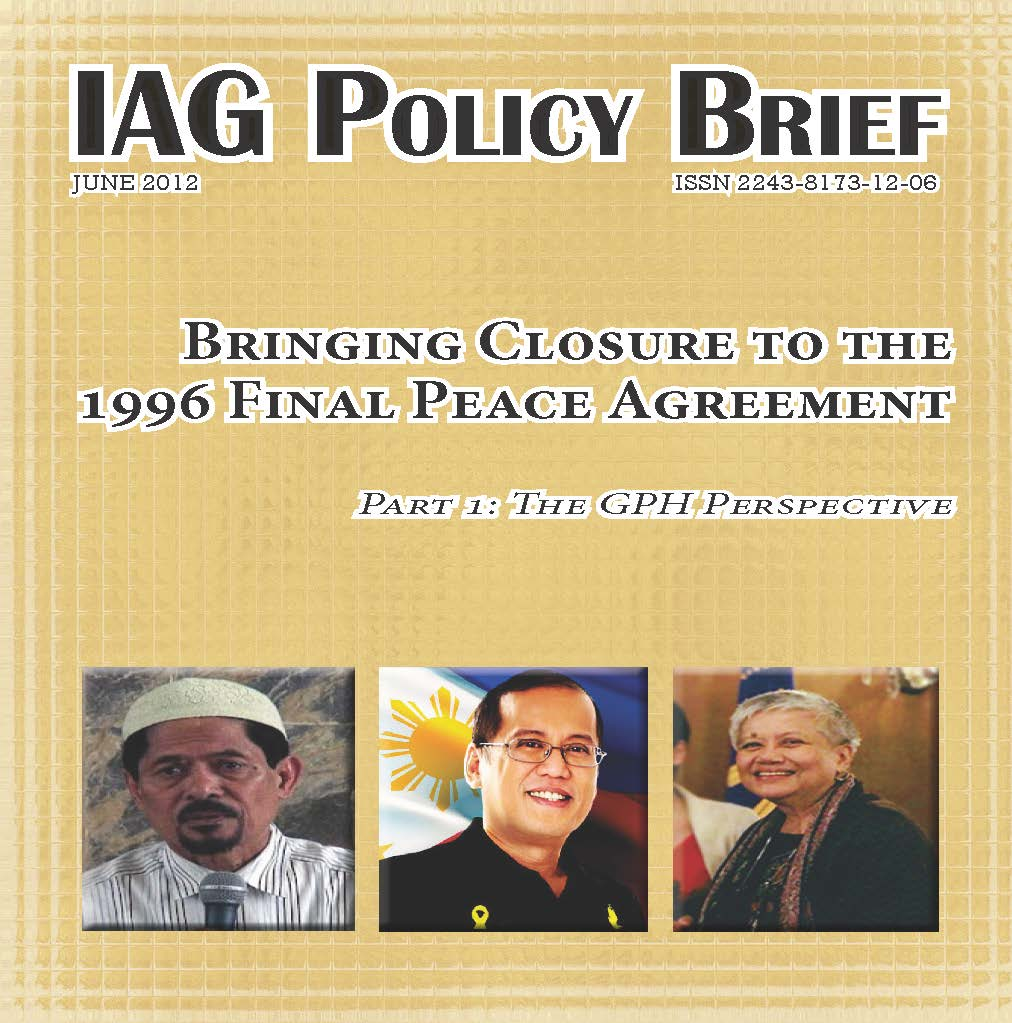 Cover: Bringing Closure to the 1996 Final Peace Agreement
