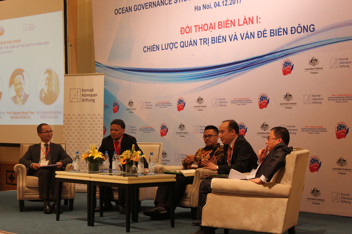 "The South China Sea has been a topic of contention for a long time. In this regard we co-organized the first part of a series called ""Ocean Dialogue"" - raising the importance of governance over the South China Sea and discussing strategies to uphold peace, development and security."