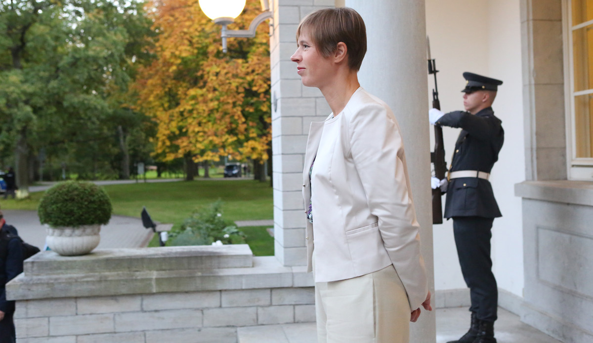 Estlands Präsidentin Kersti Kaljulaid, im September 2017. | © Annika Haas / EU2017EE / Flickr / CC BY 2.0